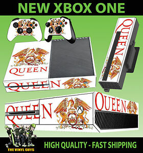 IngéNieux Xbox One Console Autocollant Reine Bande Legends Freddy Mercury Skin & 2 Pad