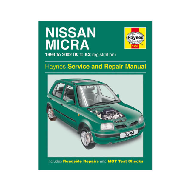 haynes service repair manual nissan micra 1993 2002 3254 ebay rh ebay co uk nissan micra shop manual nissan micra workshop manual k11
