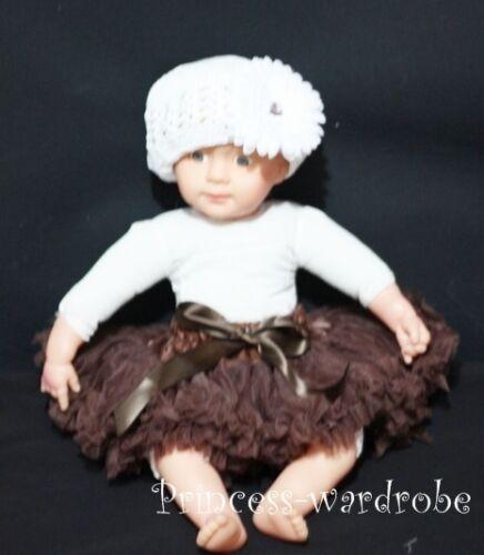 Brown Baby NewBorn Pettiskirt Pageant Dance Tutu NB-12M