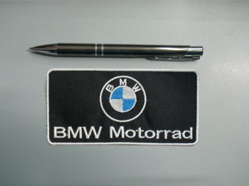 PATCH BMW MOTORRAD EMBLEM EMBROIDERY EMBROIDERED THERMOADHESIVE cm 10 x 5