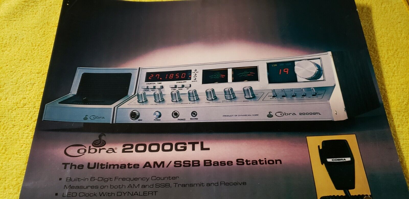 🐍COBRA 2000GTL AM/SSB IN BOX*UNIQUE  UPDATES*TUG9 ASTATIC*BEAUTIFUL QUALITY . Available Now for 1400.00