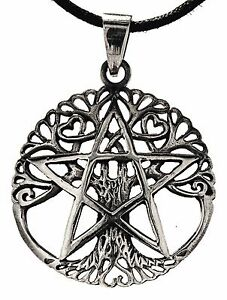 No-250-Tree-of-Life-925-Silver-Pendant-amp-Silver-Chain-Yggdrasil-Pentagram-Tree