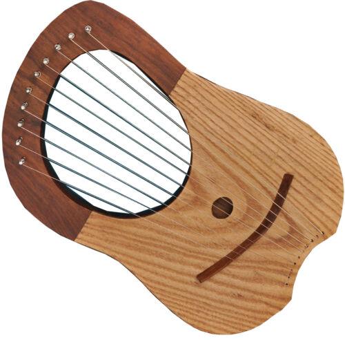 Traditional Irish Lyre Harp 10 Metal Strings Mix Wood Carrying Bag /& Key//Harfe