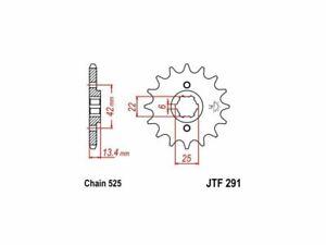 JT Sprockets Steel Front Sprocket 17T 525 JTF291.17