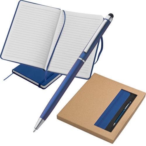 Notizbuch /& Kugelschreiber Eingabestift Set liniert A5 160 Seiten Geschenkidee