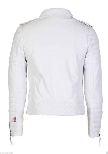 Men/'s Genuine Leather Biker Motocycle Jacket All Seasonal Wear LFK 04