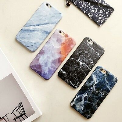 Ultra Slim Marble Pattern Rubber Soft TPU Back Case Cover for iPhone  6 6s Plus