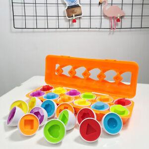 Forma-colore-corrispondente-Uova-Giocattolo-Set-Scuola-Materna-Per-Bambini-Toddler-Baby-Puzzle-Gioco