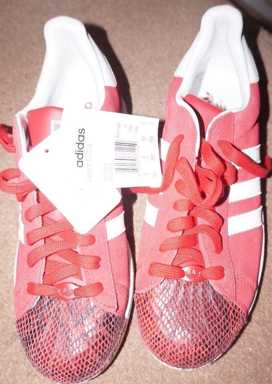 Da Uomo Adidas Adidas Adidas Rosso Snakeskin Superstar-Scarpe da ginnastica II misura 8 REGNO UNITO-NUOVO 431d71