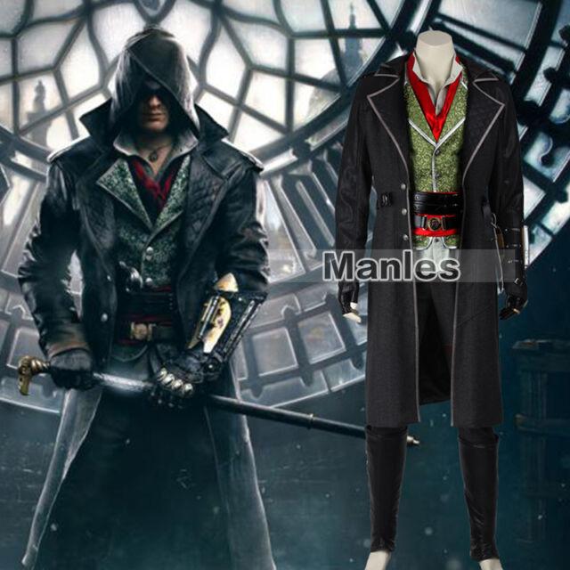 Assassins Creed Syndicate Jacob Frye Costume Uniform Full Set Well