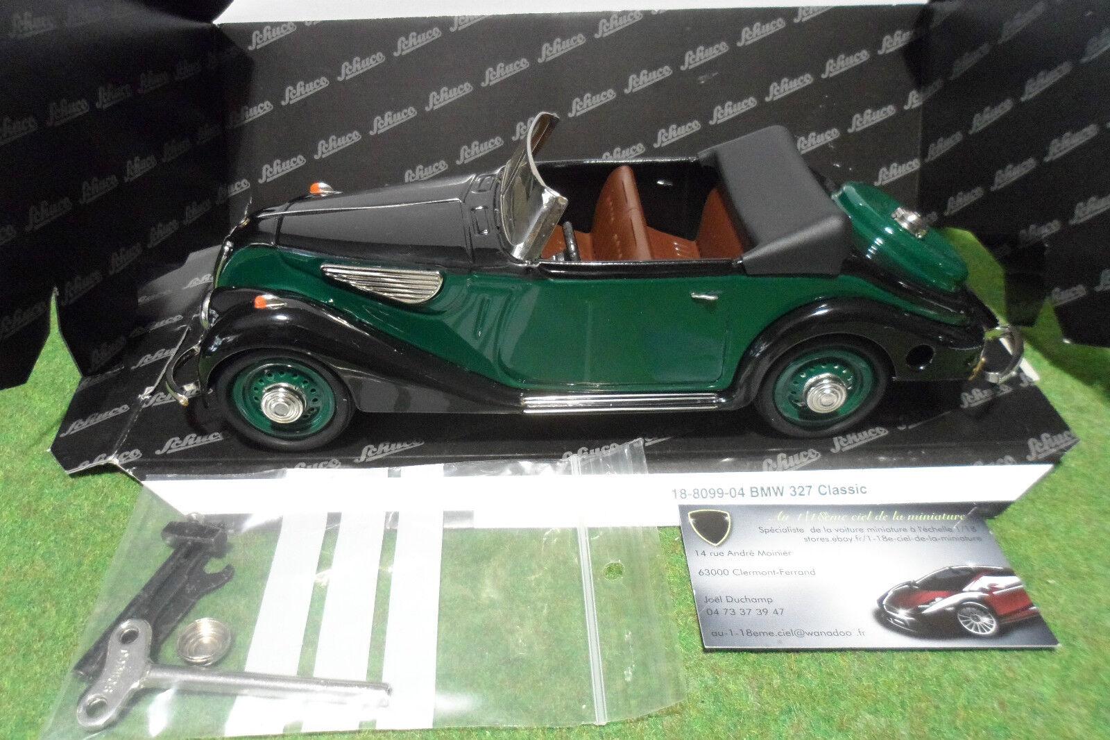 BMW 327 Cabriolet CLASSIC vert au 1  18 de SCHUCO 00012 18-8099-04 voiture à clef  remise