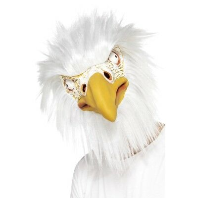 Erwachsene Eagle Der Vogel Maske Weiß Gelb Ganzer Kopf Tier Gesichtsmasken