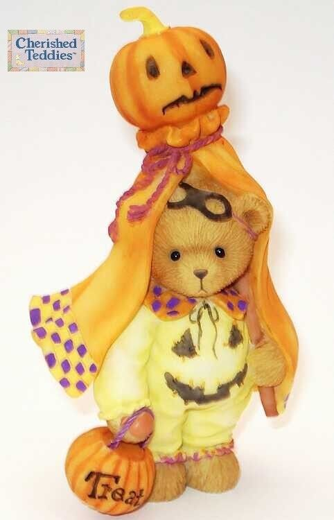 CHERISHED TEDDIES 2007 FIGURINE, MATTISON, BEAR, PUMPKIN, HALLOWEEN, RETIrosso MIB