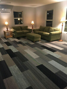 Details about New Shaw Carpet Tile Planks Modular Mixed Gray Patterns  Neutral 360 sq ft More