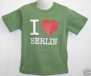Kinder-T-shirt-I-Love-Berlin-Gruen-86-bis-128