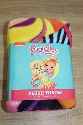 "NEW Nickelodeon Sunny Day Fleece Plush Throw Blanket 46/"" X 60/"""