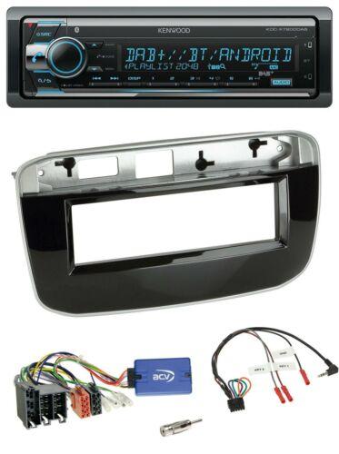 Kenwood volante Bluetooth DAB USB CD radio del coche para fiat punto punto EVO a partir de 2009