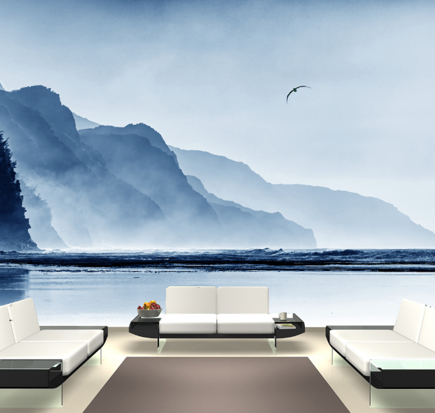 3D Nebelhafte Berge 86 Tapete Wandgemälde Tapete Tapeten Bild Familie DE Summer