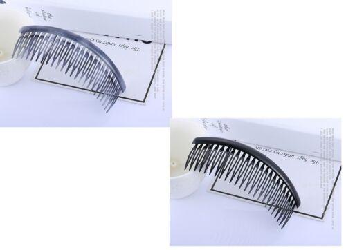 1 x Plain Hair Combs Slides Side Combs Black
