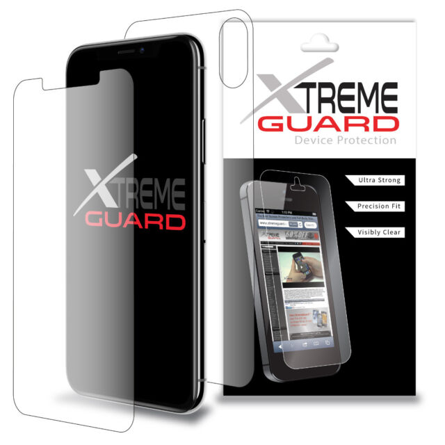 XtremeGuard FULL BODY (Front+Back) Screen Protector For Apple iPhone X