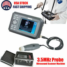 Portable Vet Ultrasound Scanner System 35mhz Probe Animal Veterinary Machine