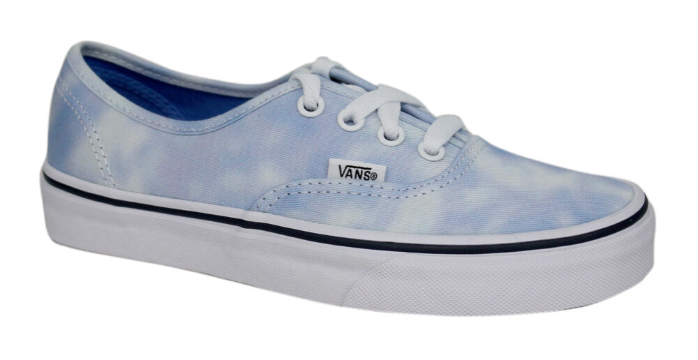 7ac230b46d83ae Vans Authentic Lace Up Mens Womens Unisex Tie Dye Palace Blue Plimsolls