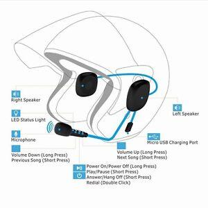 Majestic bmh004bt cuffie bluetooth per casco da motocicletta