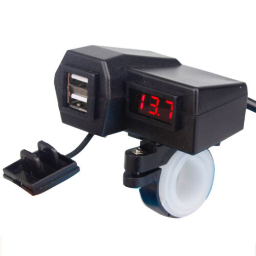 Dual USB Charger LED Voltmeter For Honda Gold Wing Valkyrie Rune GL 1500 1800