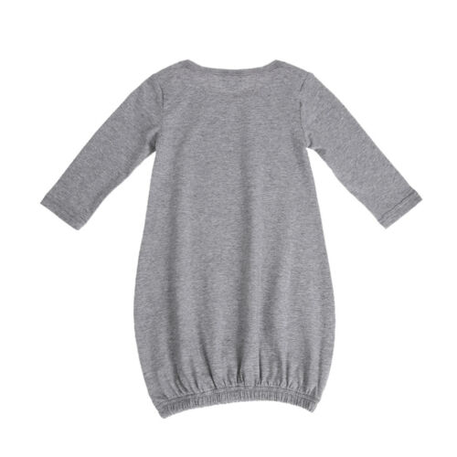 Newborn Baby Boy Girl Sleepwear Nightwear Dress Nightgown Pajamas Robe Gown+Hat