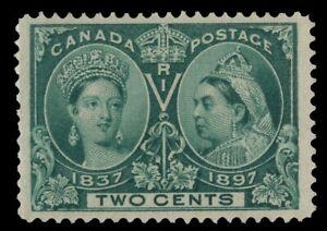 Canada-52-2c-MNH-OG-Queen-Victoria-DIAMOND-JUBILEE-1897-F-VF-3