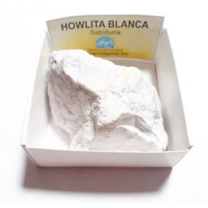 Howlita-Blanca-Piedra-Cristal-Natural-En-Bruto-En-Cajita-De-Coleccion-6x6-cm