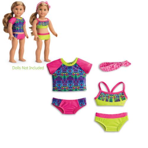 "American Girl LE LEA SWIM SET for 18/"" Dolls Lea/'s Mix and Match Suit Bikini NEW"