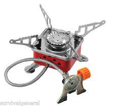 Portable Outdoor Gas Butane Propane Burner Camping Mini Steel Stove Case Picnic
