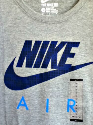 AUTHENTIC NIKE AIR HYBRID 100% COTTON GRY/INDG/BLU T SHIRT 739473-010 AH3207-063