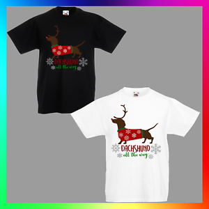 Dachshund Dog Cute Kid/'s T-Shirt Children Boys Girls Unisex Top
