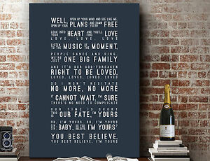 Jason Mraz I Won T Give Up Poster Wall Art Song Lyrics Print Canvas Gift Ebay