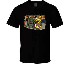 The Big Lebowski The Dude Sesame Street Parody Black T-Shirt Elmo Bert Ernie