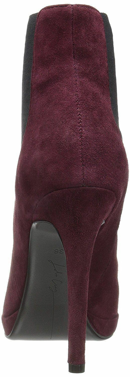 LOLA CRUZ 37 37 37 Burgundy Red Suede Cameron Ankle Boot Booties 7 NEW 9487b8