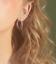 Solido-925-Argento-Sterling-Doppio-CERCHI-Perline-Corda-CERCHIO-Sleeper-Orecchini-Pendenti miniatura 10