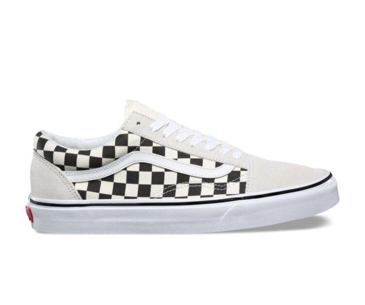 Vans Old Skool Checkerboard Black White Mens and Kids Size Checker Board