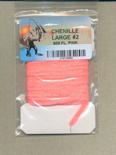 pink large size 2 fl 3 yd card Chenille