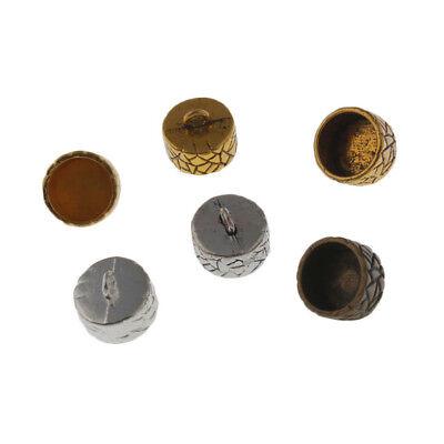 30Pcs 12x5mm Craft Necklace Bracelet Leather Cord End Bead Cap Stopper Fit Beads