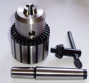 RDGTOOLS-16MM-KEYTYPE-DRILL-CHUCK-WITH-2MT-ARBOUR-LATHE-ENGINEERING-TOOLS-MYFORD