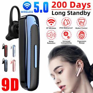 Wireless Bluetooth Headset Headphone Ear-hook Sports Earphone Handsfree Call Mic