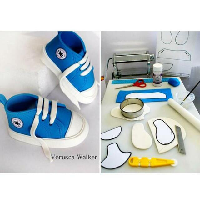 6pcs Plastique Baby High Cut sneaker chaussure Fondant Gâteau Cookie Mold Outils Pour Bricolage H