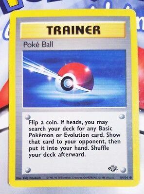 Trainer 1999 2x Pokemon Cards Poke Ball #64//64 JUNGLE set  NM