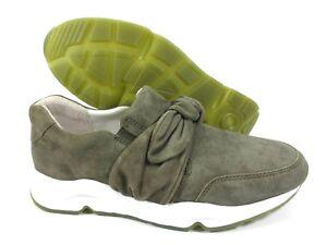 Infos für Fabrik authentisch näher an Details zu GABOR Comfort Sneaker Slipper Leder Schuhe oliv grün Weite G NEU  UVP 134,95