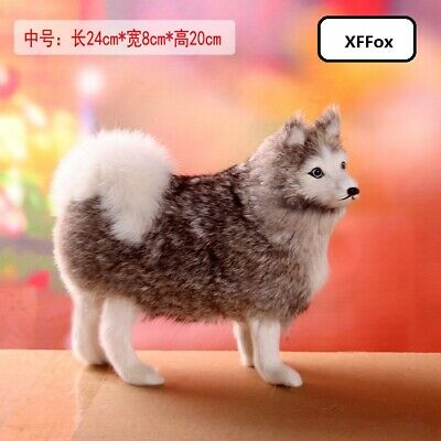 cute real life black dog model plastic/&furs small dog doll gift about 10cm