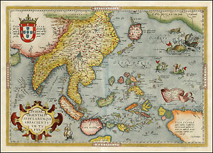 Ortelius japan asia india malaysia indonesia reproduction antique image is loading ortelius japan asia india malaysia indonesia reproduction antique gumiabroncs Image collections