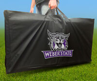 Weber State Wildcats Licensed Cornhole Board Carrying Case Storage Carry Bag